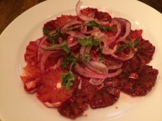 Blood orange, red onion and oregano salad