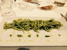 Trofie with basil pesto