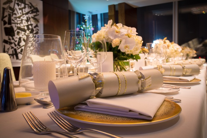 Beautifully decorated tables