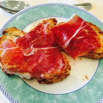 Ham on toast