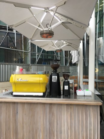 Al fresco coffee bar