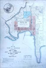 Plan for the Town of Gosford 1908. Source: Gosford City Library