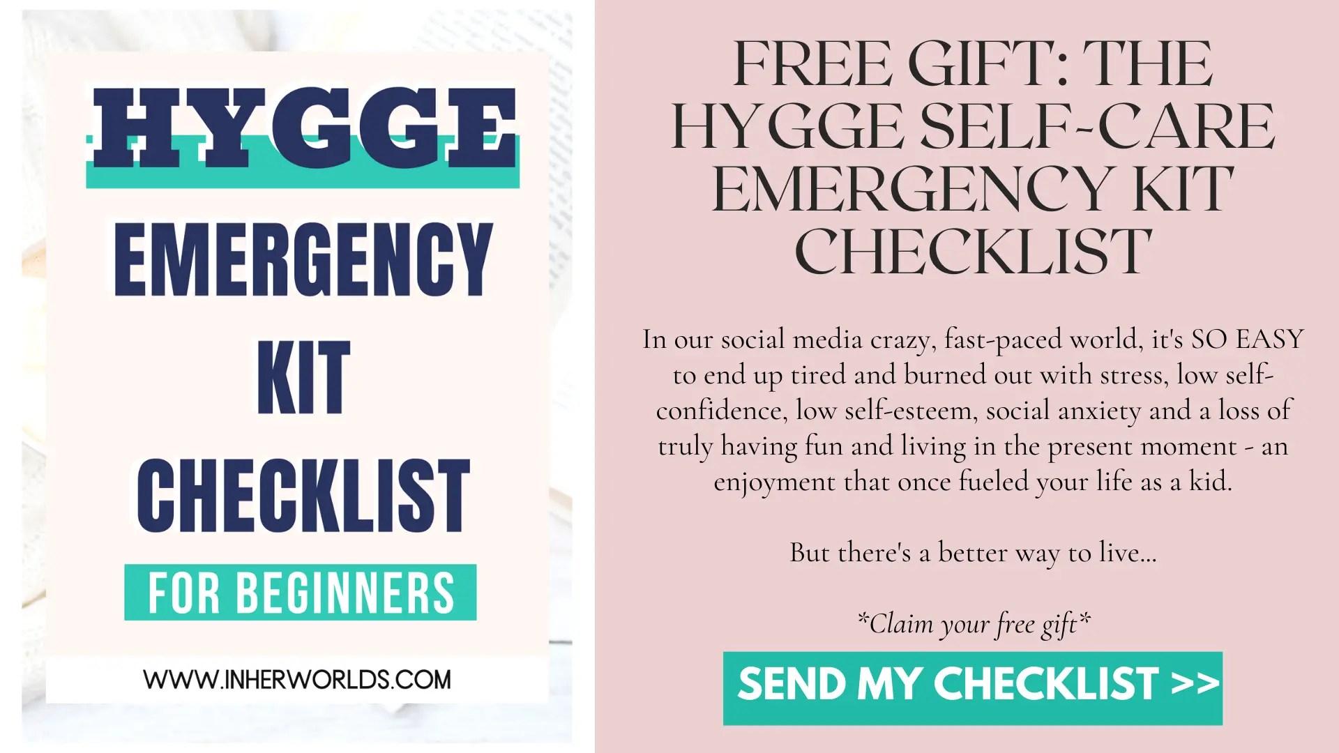 Hygge Self-Care Emergency Kit Checklist