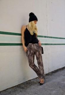 Nikole Powers, Sequin pants, so kate christian Louboutin, miami blogger, miami stylist, fashion blogger, street style, in high demand blogger, Spyder ski hat