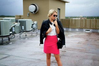 Leather and Pink, Chanel Boy Bag, Street Style