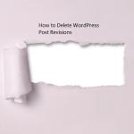 WordPress site से Old Post Revisions Delete कैसे करें