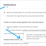 How to Unsubscribe YouTube New Subscriber Email Notification हिंदी में
