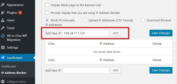 How to Block IP Address from accessing your WordPress website