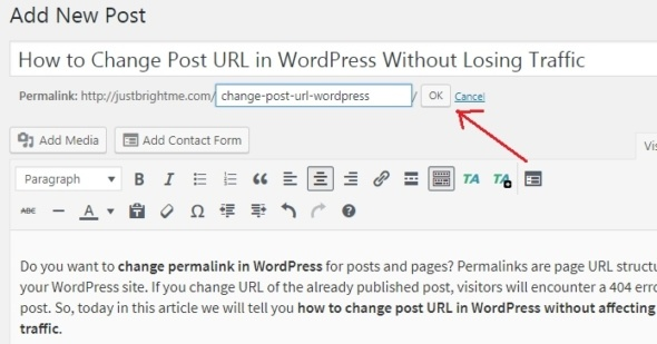 How to Change Post URL in WordPress Without Losing Traffic