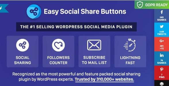 wordpress social media share plugin