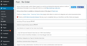 How to Reorder Posts in WordPress