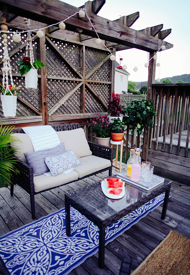 A Budget Friendly Patio Makeover In Honor Of Design