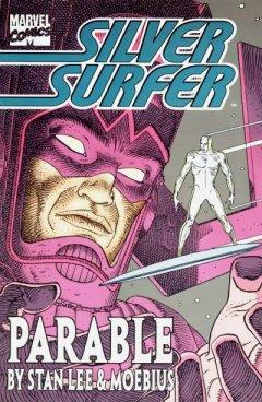Capa de O Surfista Prateado, Parábola, por Moebius