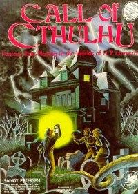 Capa de Call of Cthulhu, primeira edição de 1981