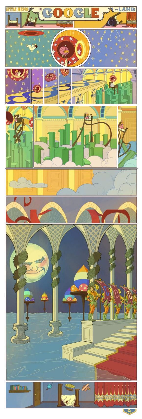 Google homenageia Little Nemo em Doodle do buscador