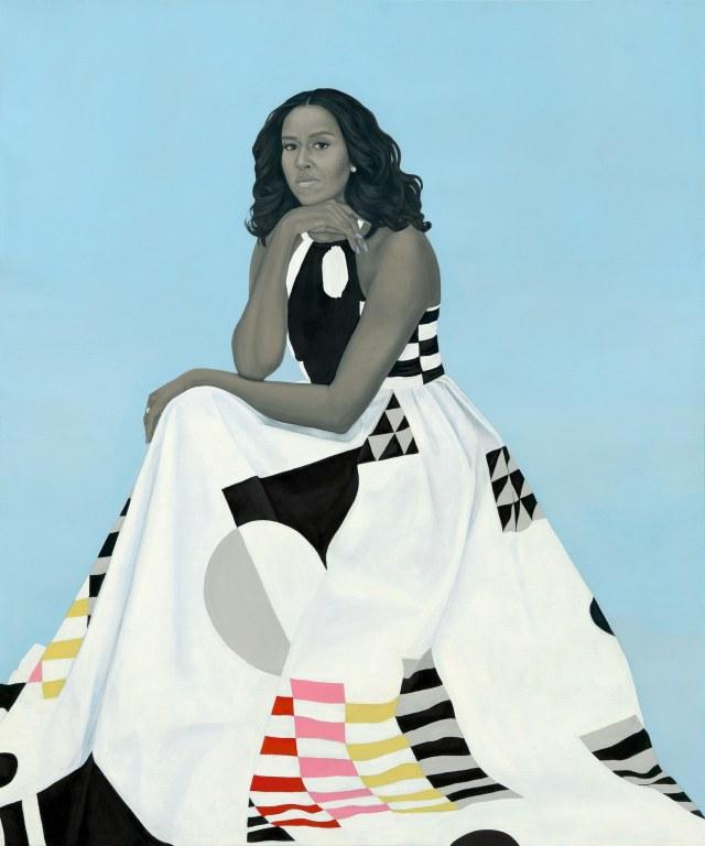 Amy Sherald, retrato de MichelleObama
