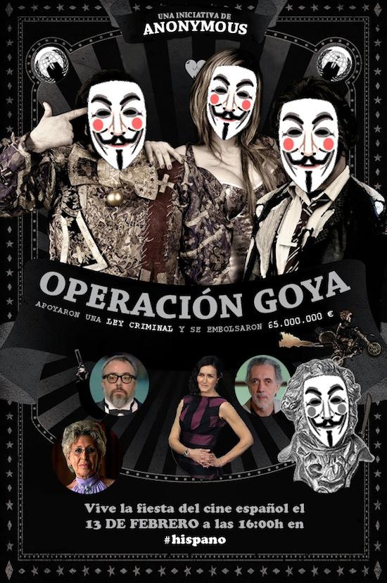 Convocatoria de Anonymous para los Goya contra la ley Sinde