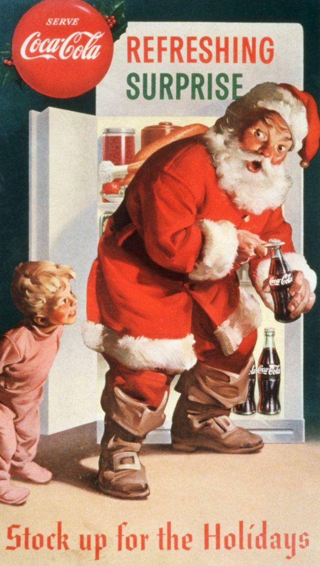 Campaña de Coca-Cola con Papá Noel en los años 30