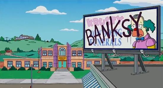 Banksy en los Simpsons