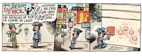 Tira cómica de Liniers