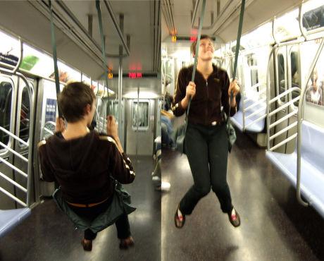 El columpio para el metro de Caroline Woolard