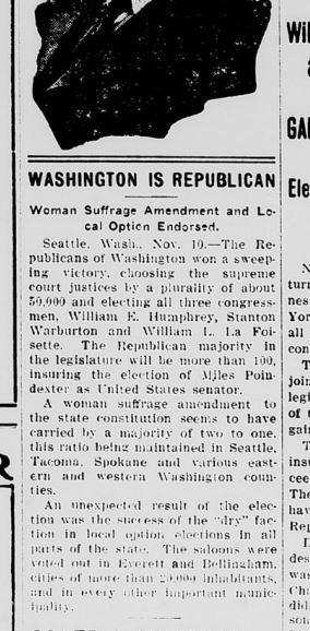 Newspaper clipping on woman's suffrage