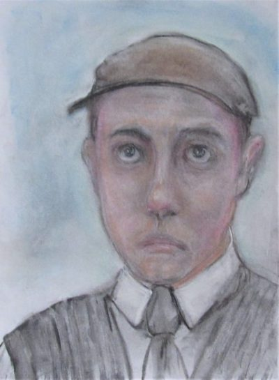 Calmacott's Brother a pinkish Edwardian youth in a cap art for poem Henry Calmacott