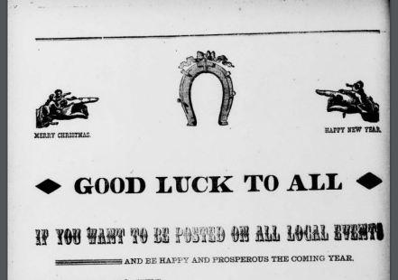 Newspaper advertisement depicts horseshoe not upside down