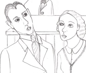 Cartoon of vampire and hotel manager