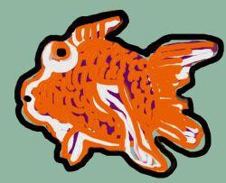 Digital drawing of goldfish