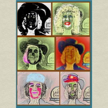 Uncollected Poems different takes on Quaker Oats man art for poem The Day You Were Born