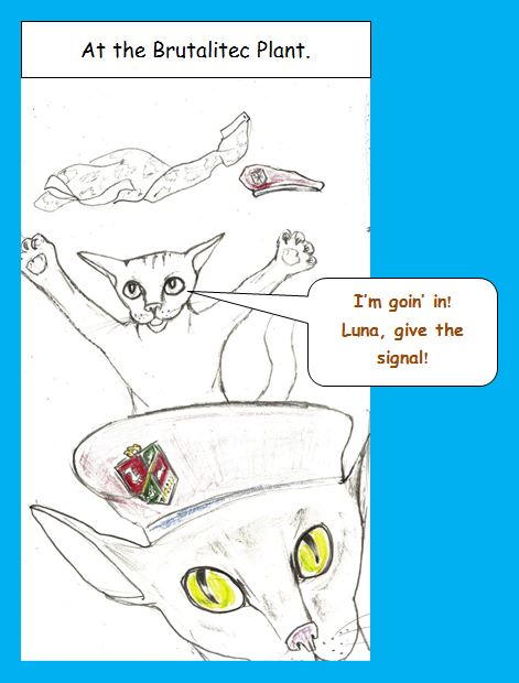 Cartoon of commando kittens