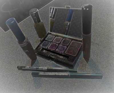 Flash Fiction stylized photo of makeup products art for Free for All