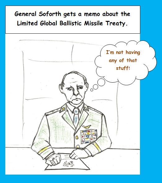 Cartoon of general who doesn't like change