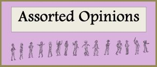 Banner logo orchid-pink background and figures expressing opinions