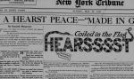 Newspaper clipping with Hearst as snake motif