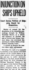 Newspaper clipping W. R. Hearst dispute with U.S. government over war prize ships