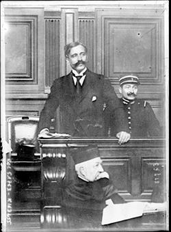Public domain photo of WWI French traitor Bolo Pacha on trial