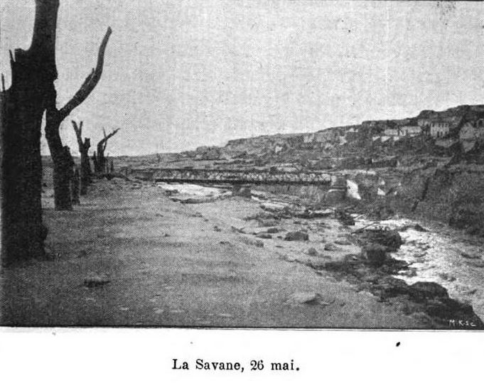 1902 photo of destruction in public park La Savane
