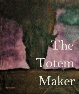 Virtual cover art for The Totem-Maker with volcanic eruption