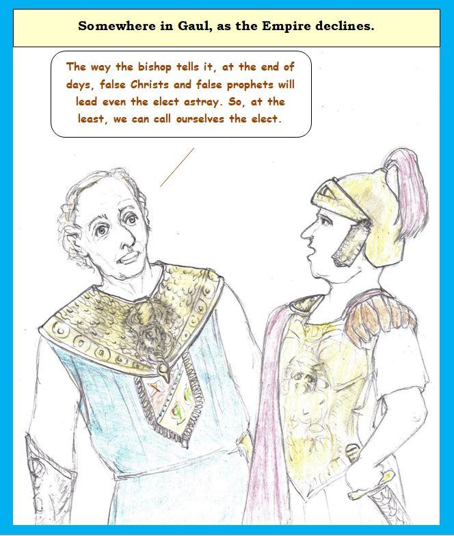 Cartoon of late Roman period follies
