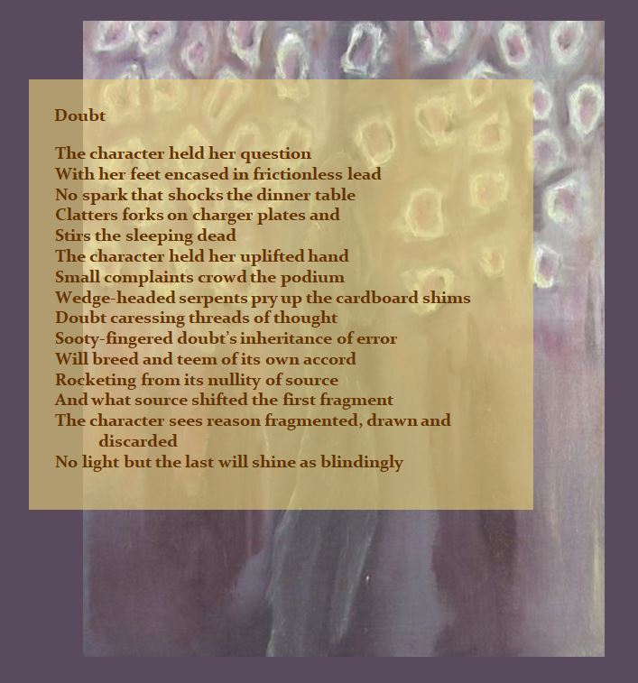 The Poor Belabored Beast text and image of walking figure poem Doubt