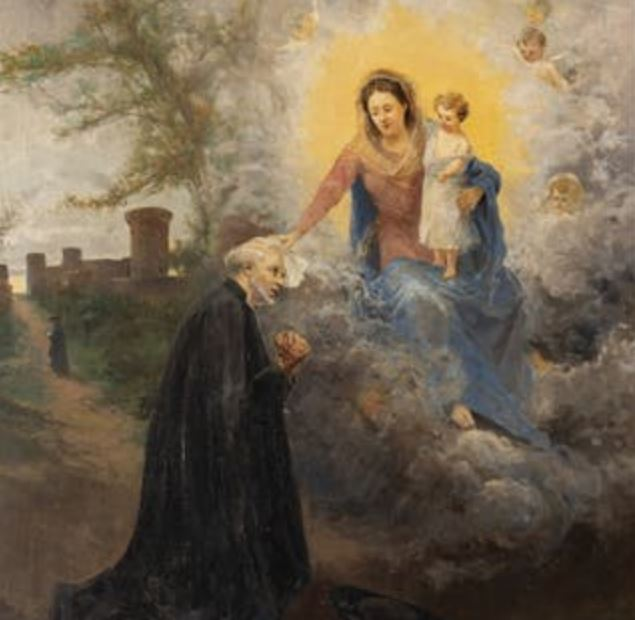Painting of apparition of Virgin