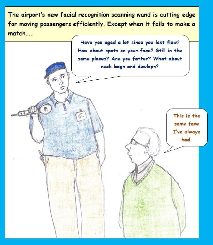 Cartoon new technology for airports gets personal