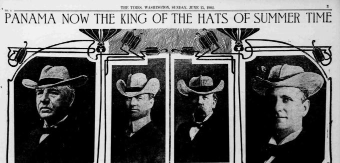 1902 newspaper clipping men's hat styles