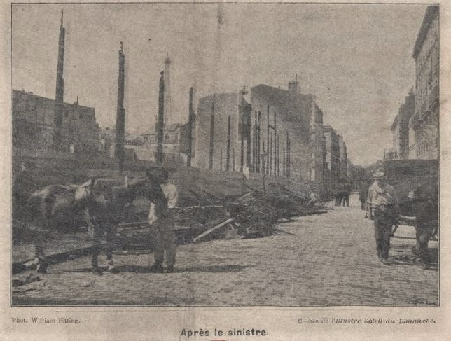 Photo of 1897 Paris Charity Bazaar fire street outside