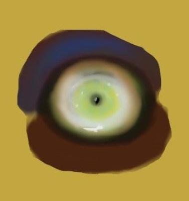 Digital painting of creature's eye