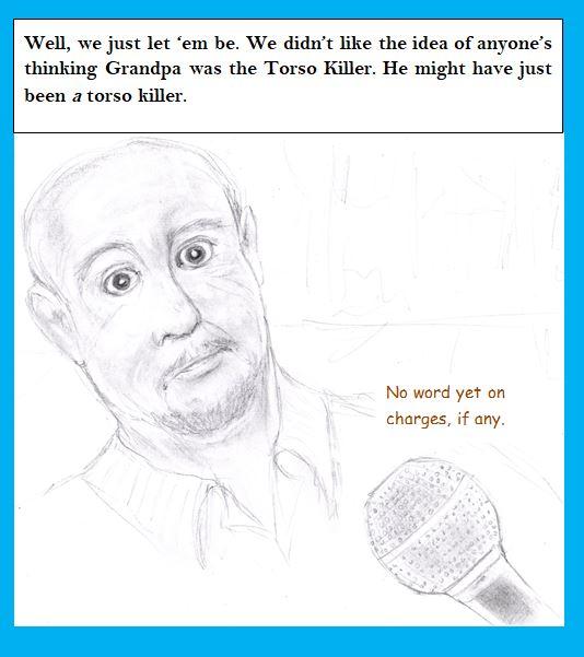 Cartoon of grandson of serial killer