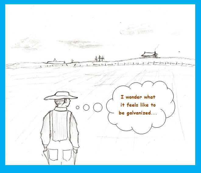 Cartoon of philosophical farmer