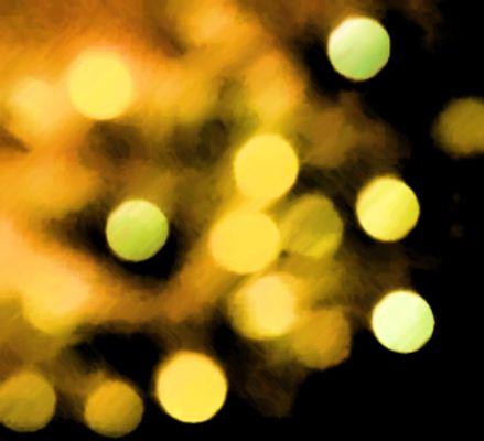 Digital image of light orbs